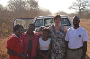 Jackie in Zimbabwe with ActionAid