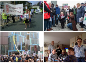 Bridgend Against the Bedroom Tax Steering Committee (bottom right(